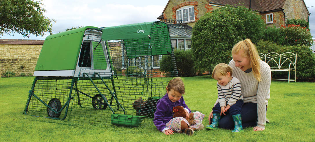 The Eglu Go UP Chicken Coop makes chicken keeping easy and fun for all the family
