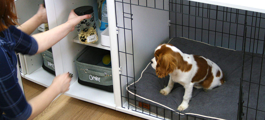Keep your puppy training treats safe in the Fido Studio's wardrobe