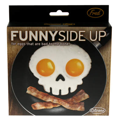Funny Side Up Skull Egg Mould