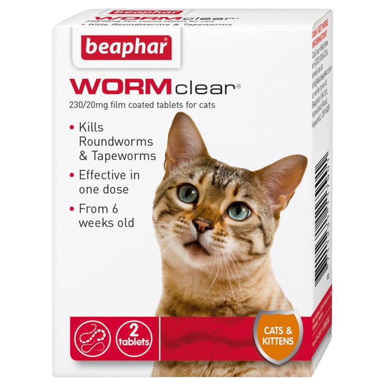 Beaphar Wurmkur Fur Katzen 2 Tabletten Katzengesundheit