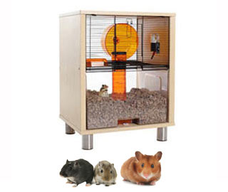 Birch Qute Hamster and Gerbil House