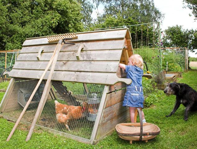 Der erhöhte, hölzerne Boughton Hühnerstall ist wirklich sehr einfach zu benutzen