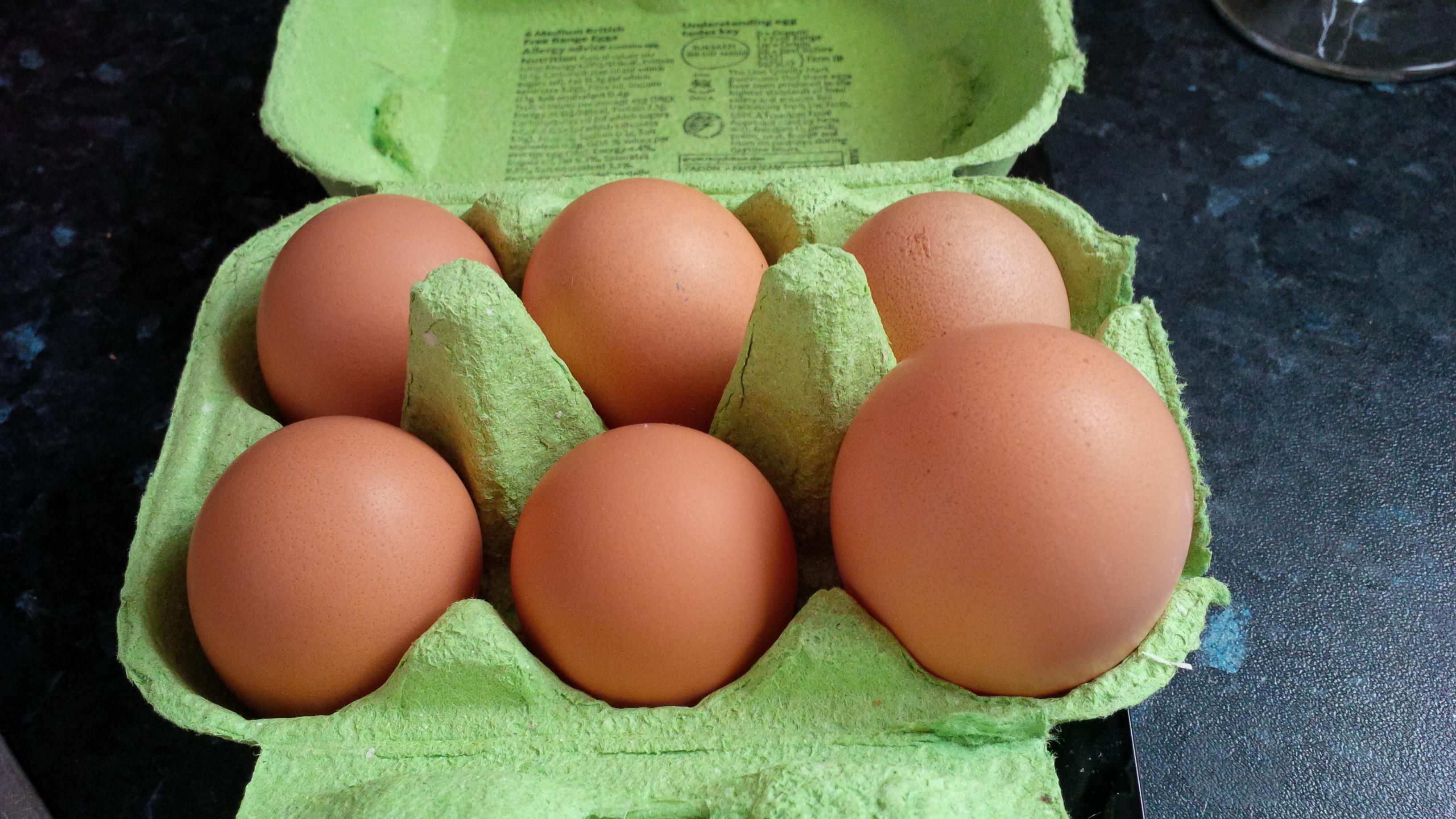 James McPhersons Hennen legen ganz unterschiedlich große Eier