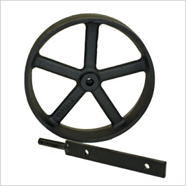 The optional cast iron wheels available with a Lenham chicken coop.